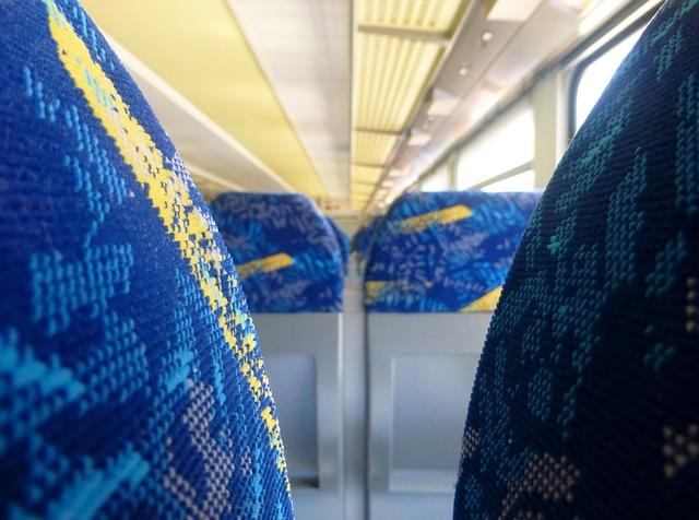 Säten på ett tåg