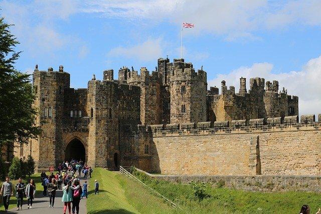 Alnwick Castle i Northumberland