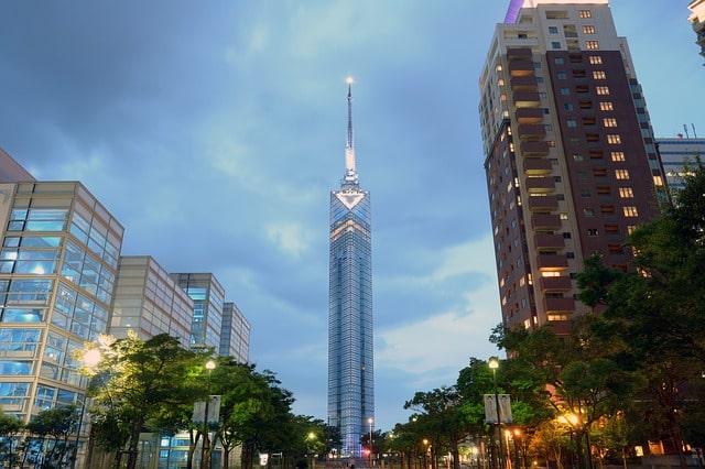 Fukuoka Tower i Fukuoka, Japan.