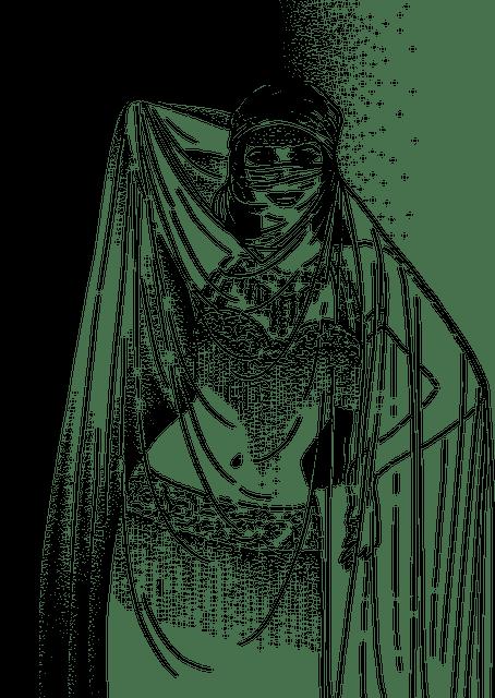 Illustration av en magdansös