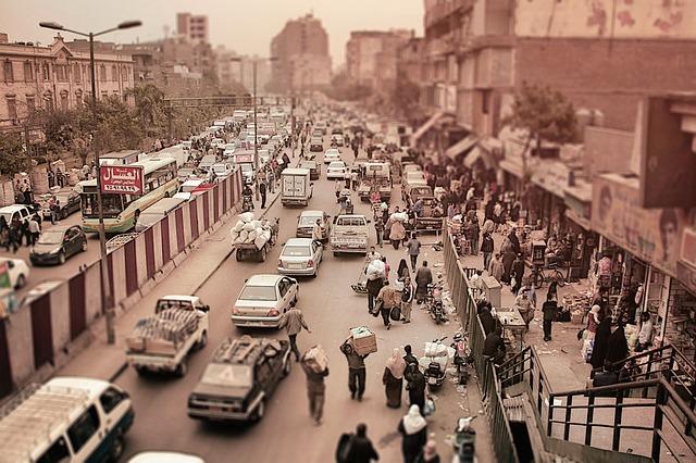 Trafiken i Kairo