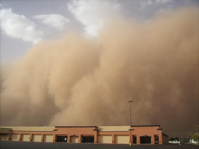 Sandstorm i Egypten