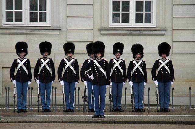 Kungliga vakter i Köpenhamn.