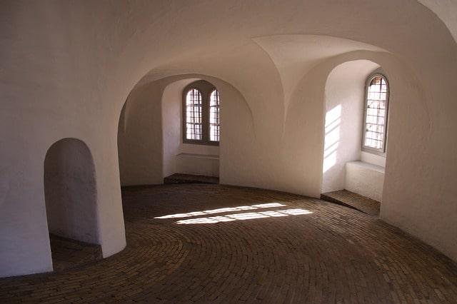 Bild på spiralgången uppför Rundetårn i Köpenhamn.