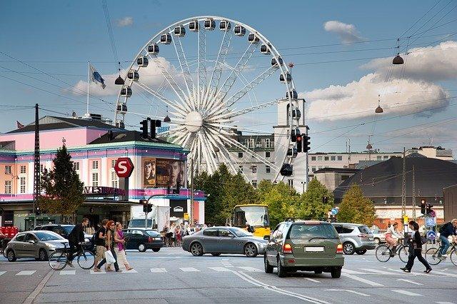 The Wheel of Copenhagen på Axeltorv.