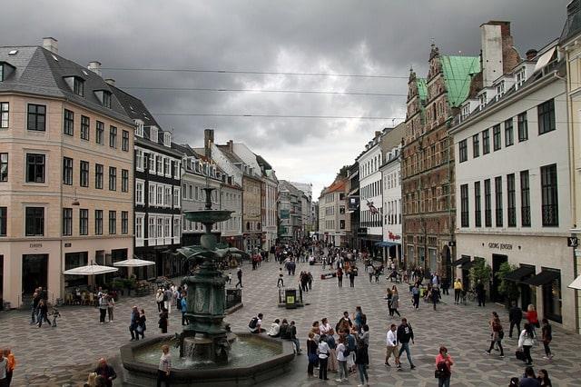 Strøget i Köpenhamn.