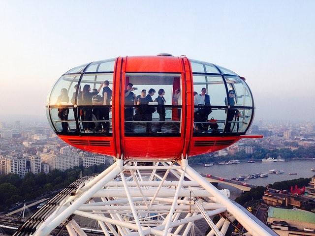 Utsikt från London Eye i London
