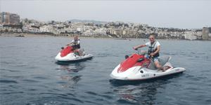 Jetski på vattnet i Malaga