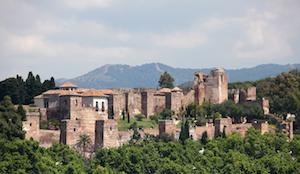 Slottet Alcazaba i Malaga