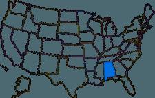 Alabamas placering i USA